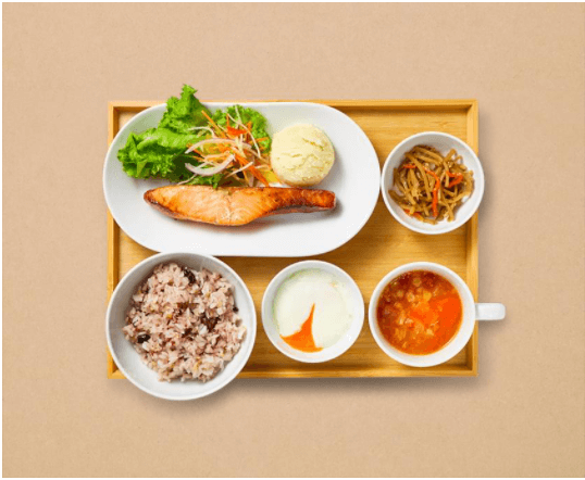 IKEA渋谷限定フィレサーモン定食 ジンジャーソース